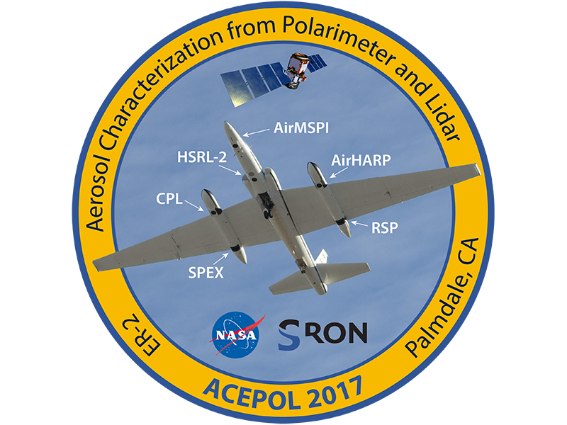 Logo for the Aerosol Characterization from Polarimeter and Lidar (ACEPOL) campaign