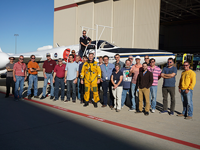 A portion of the pilots, mechanics, engineers and scientists who participated in the ACEPOL field campaign. Credit: NASA/Kirk Knobelspiesse