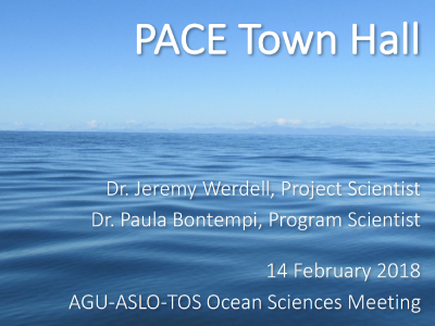 PACE Town Hall presentation at Ocean Sciences