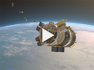 This animation shows how the SSO-A, the single largest dedicated rideshare mission on a U.S. launch vehicle, will deploy a record-breaking 64 satellites.