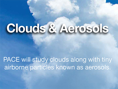 PACE will provide key information on aerosols such as airborne dust, pollen, smoke and haze.  Credit: NASA/GSFC