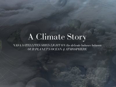 This e-brochure, <i>A Climate Story: NASA Satellites Shed Light on the Delicate Balance Between Our Planet's Ocean & Atmosphere</i> provides a history of ocean remote sensing for climate and explores the relationship between aerosols, clouds, and the ocean. Credit: NASA PACE