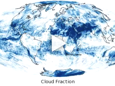 Cloud Fraction maps show what fraction of an area was cloudy on average for each month. Colors range from blue (no clouds) to white (very cloudy).