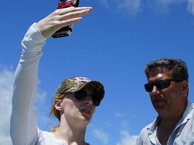 CORAL Scientists Michelle Gierach and Eric Hochberg