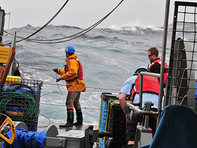 Sampling in the open ocean presents many challenges