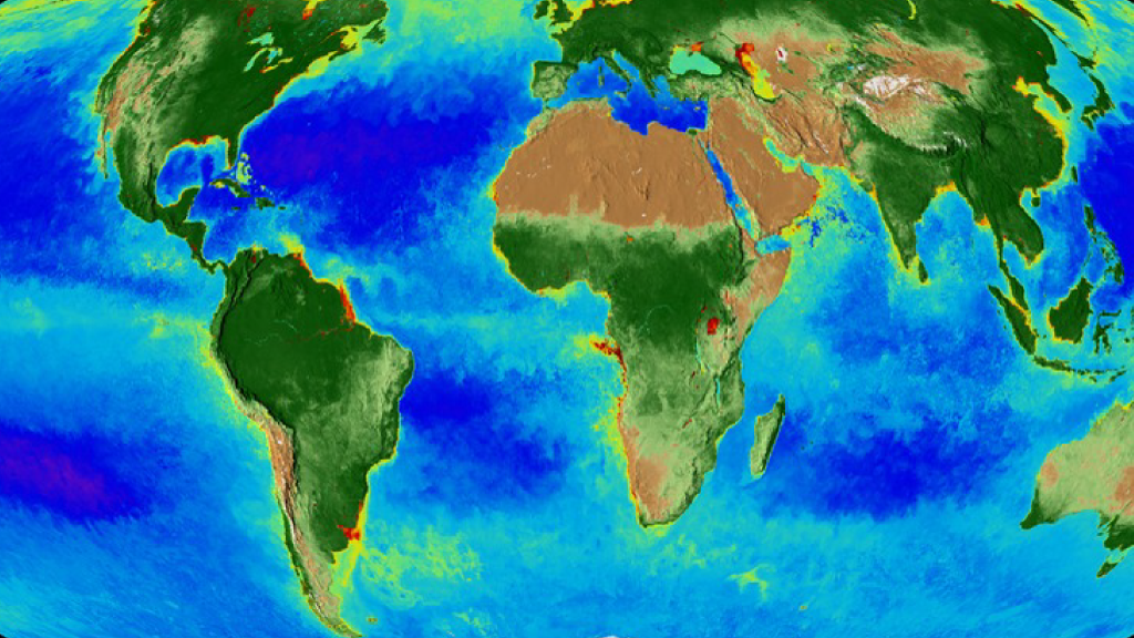 Global image of the Earth's biosphere