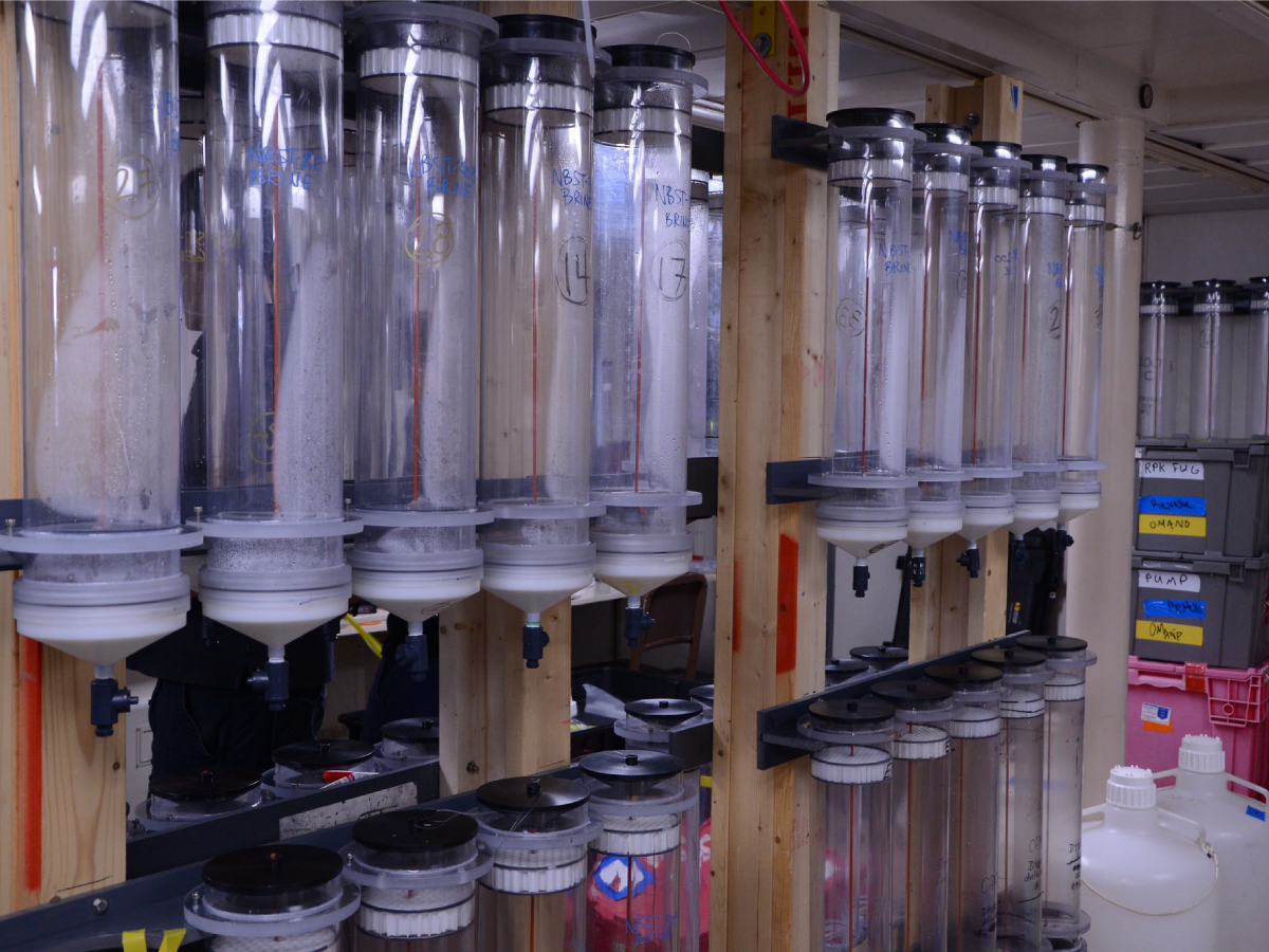 Sampling tubes in the hydro lab