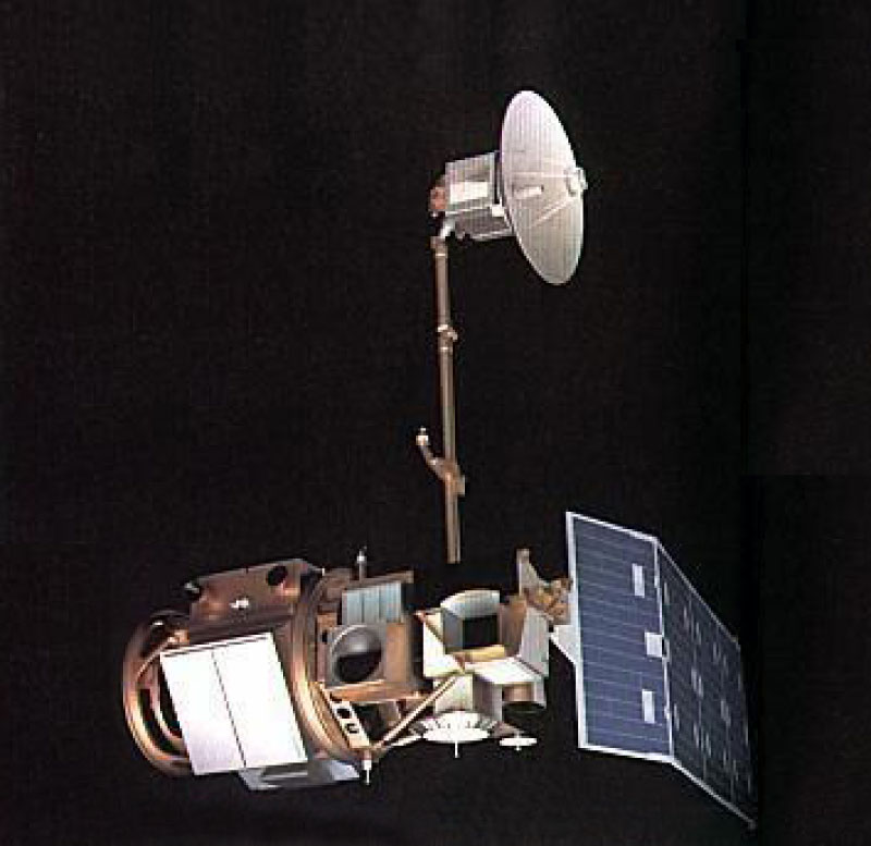 An image of Landsat-4, which was launched in 1982.
