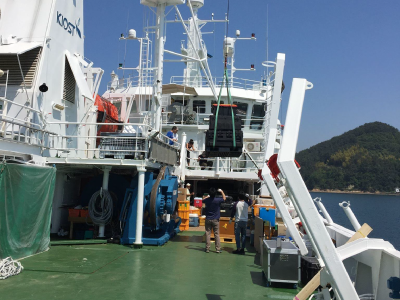 KORUS-OC Equipment is Hoisted Aboard
