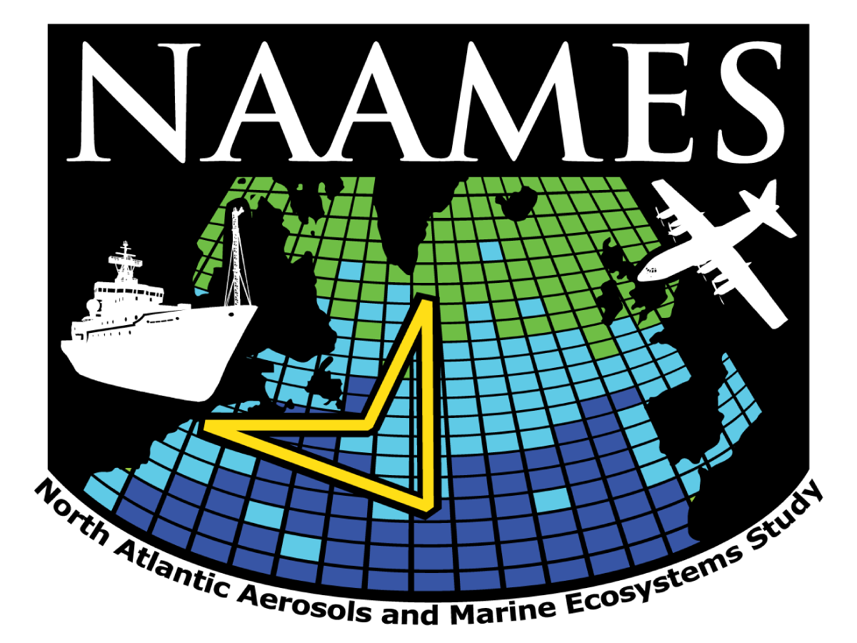 Logo for the North Atlantic Aerosols and Marine Ecosystems Study (NAAMES) field campaign