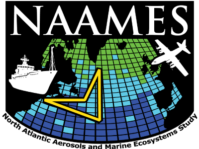Logo for the North Atlantic Aerosols and Marine Ecosystems Study (NAAMES) field campaign.