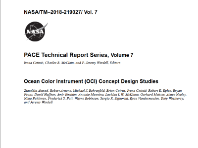 Ocean Color Instrument (OCI) Concept Design Studies