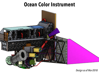 The Ocean Color Instrument (OCI) is a highly advanced optical spectrometer and the primary sensor on PACE. Credit: NASA/GSFC