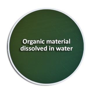 Organic material dissolved in water