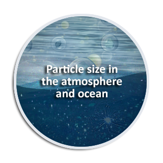 Particle size in the atmosphere and ocean