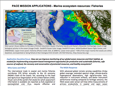 PACE Applications White Paper: Fisheries