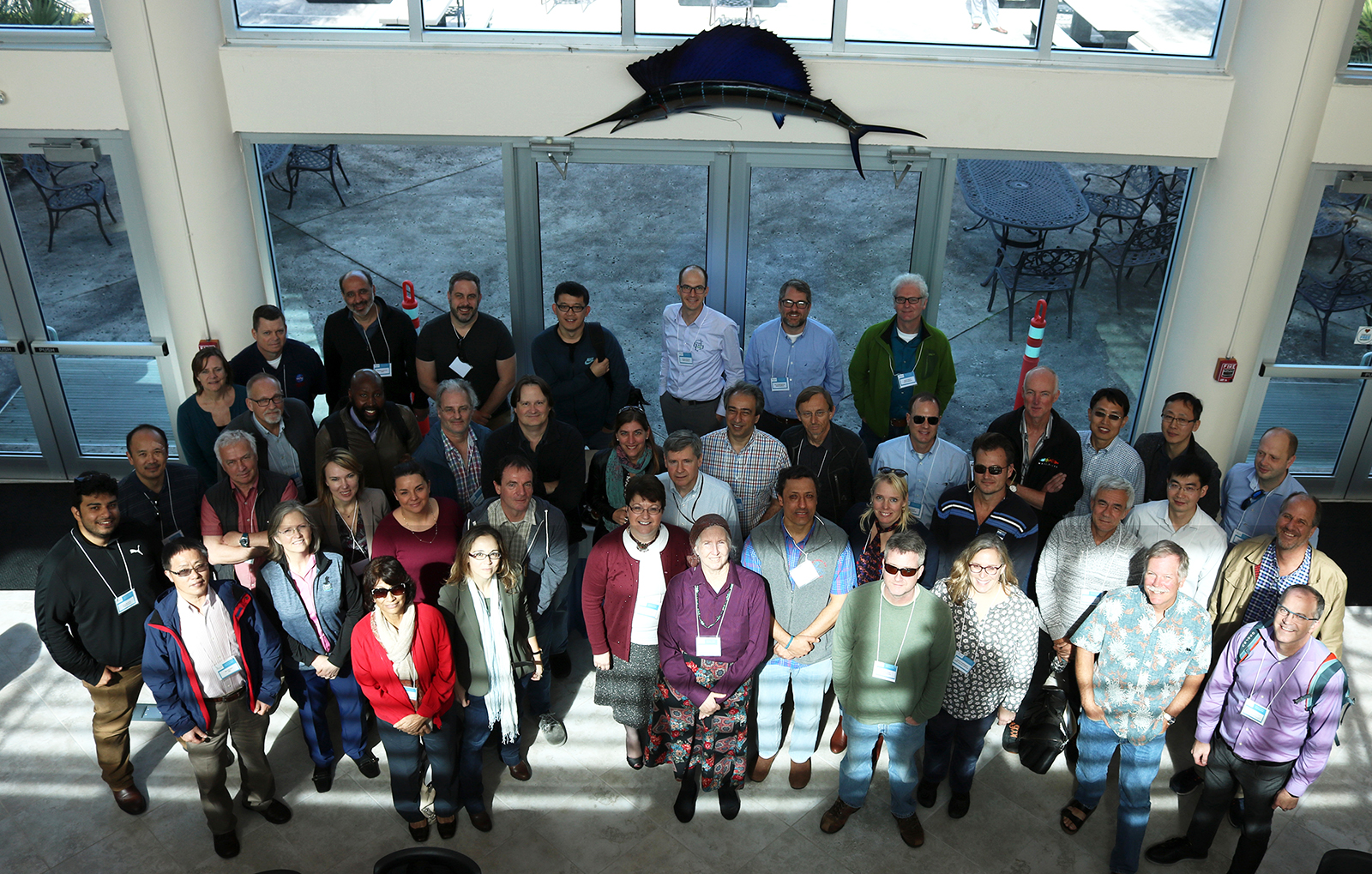 Members of the PACE Science Team pose for a photo at the 2018 Science Team Meeting, held at the Harbor Branch Oceanographic Institute in Fort Pierce, FL.