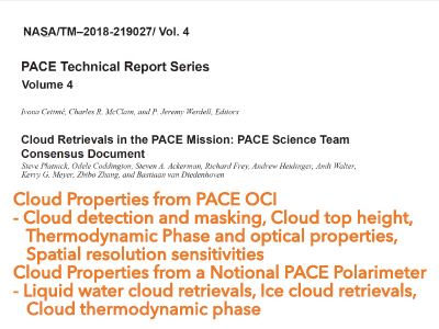 Cloud Retrievals in the PACE Mission: PACE Science Team Consensus Document