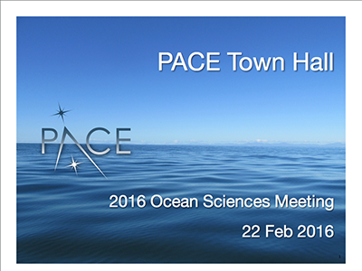 PACE Town Hall at Ocean Sciences