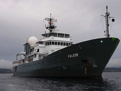 The R/V <em>Falkor</em> is an oceanographic research vessel, the flagship vessel of the Schmidt Ocean Institute. Credit: Schmidt Ocean Institute