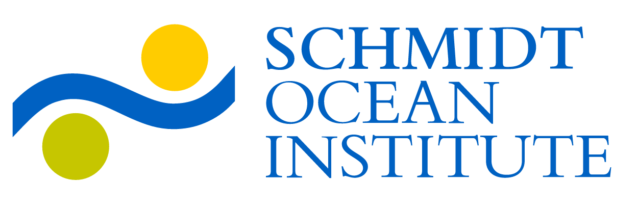 Logo for the Schmidt Ocean Institute, sponsor of the Sea to Sky Particle Investigation cruise.