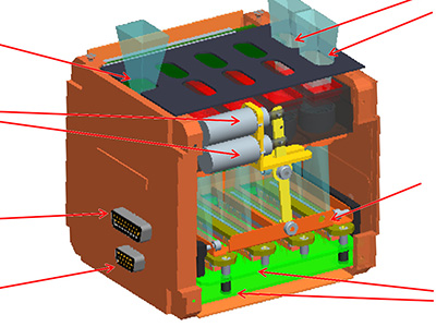 The mechanical design concept for the HawkEye Ocean Color Sensor. Credit: NASA GSFC