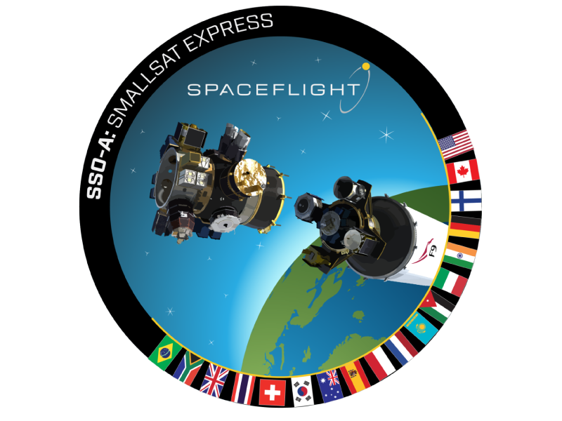 The mission patch for the SSO-A Smallsat Express