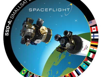 The mission patch for SSO-A: Smallsat Express. Credit: Spaceflight Industries