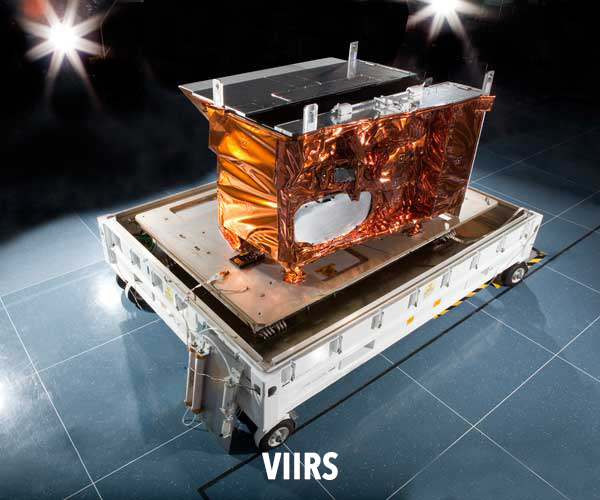 Image of the Visible Infrared Imaging Radiometer Suite (VIIRS) instrument.