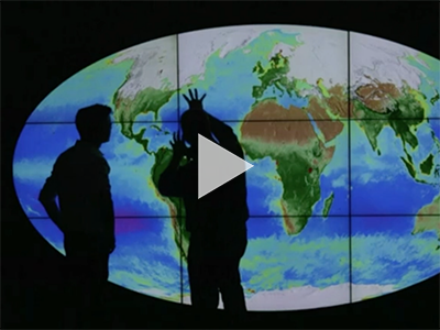 On a BBC news video, Dr. Jeremy Werdell is interviewed about a new NASA visualization featuring 20 years of ocean color data.